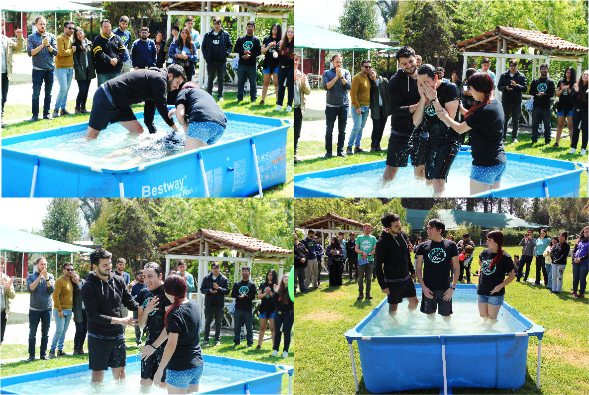 Conner Reeder talks about a baptism at the El Oasis campus ministry in Chile, through Globalscope.